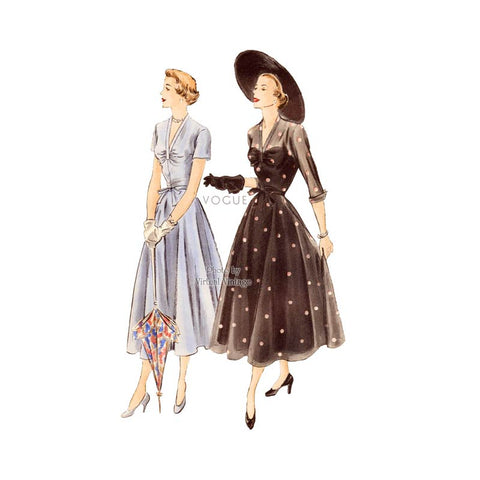 1940s Dress Pattern, Vogue 6757