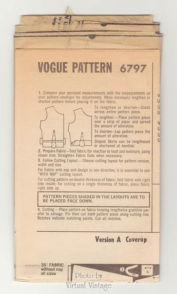 Vogue 6797 Halter Neck Dress Pattern, One Piece, Sleeveless, Patch Pockets, Easy Sewing