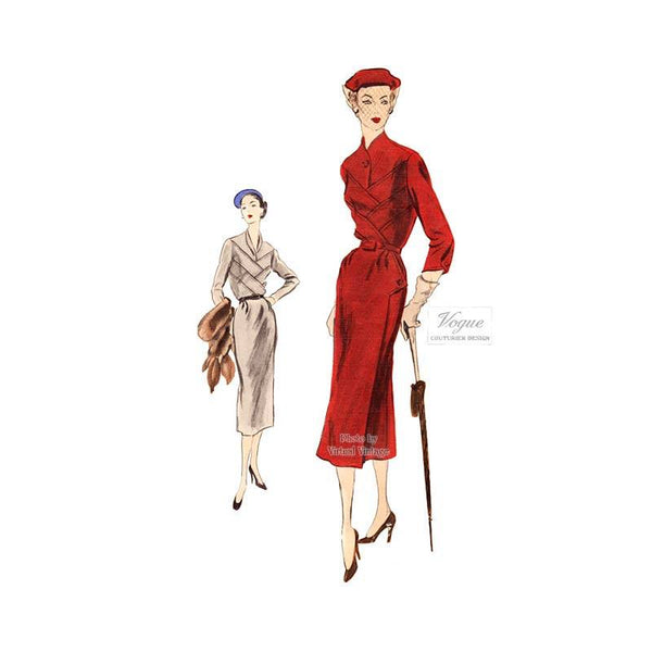1950s Couture Dress Pattern, Vogue Couturier 700