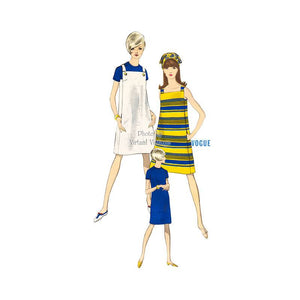60s Sleeveless Jumper Pattern Vogue 7029