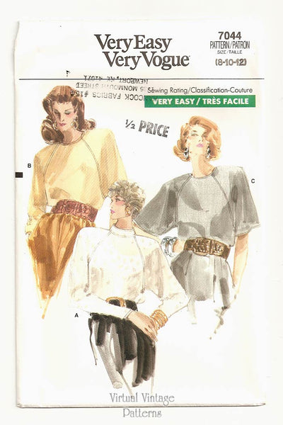 Vogue 7044, Loose-fitting Blouse Pattern