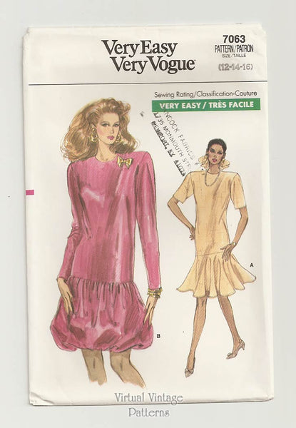 Vogue 7063, 1980s dress pattern