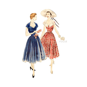 1950s Dress Pattern, Vogue 7086