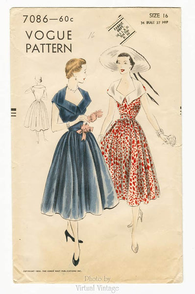 Vogue 7086, 1950s Dress Pattern