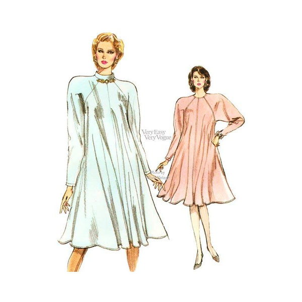 Very Easy Very Vogue 7087 tent dress pattern