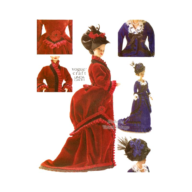 Vogue 7100 Victorian Doll Dress Pattern