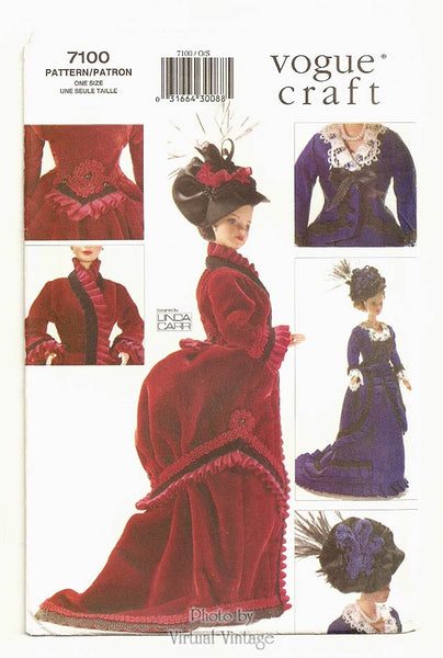 Vogue Craft 7100, Victorian Doll Dress Pattern