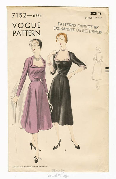 Vogue 7152, 1950s Dress Pattern