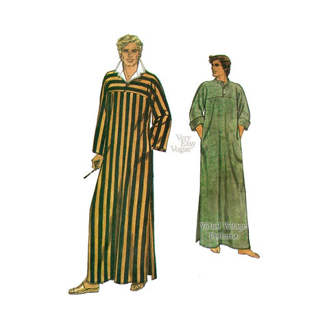 Men Caftan Pattern, Vogue 7255