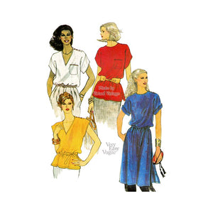 Womens Tunic Top Pattern, Very Easy Vogue 7341