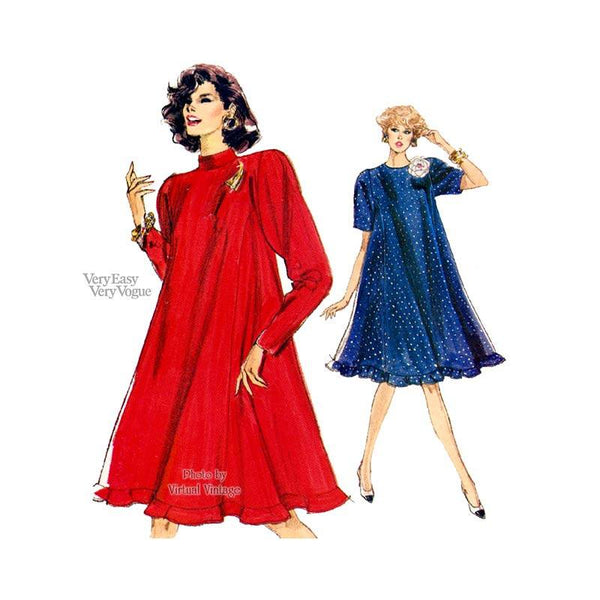 long sleeve tent dress pattern Vogue 7381