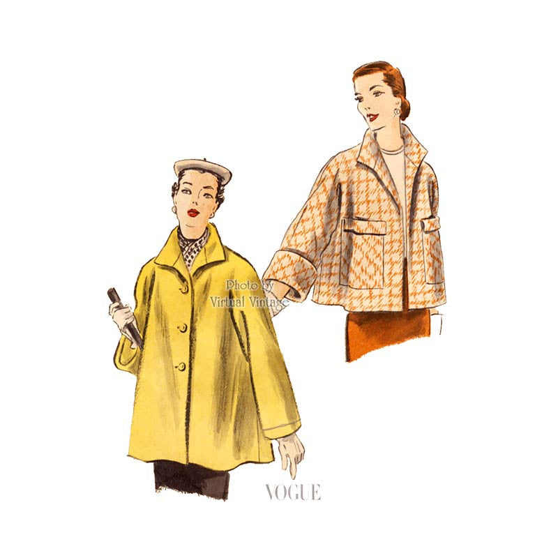 Vogue 7437 1950s coat pattern
