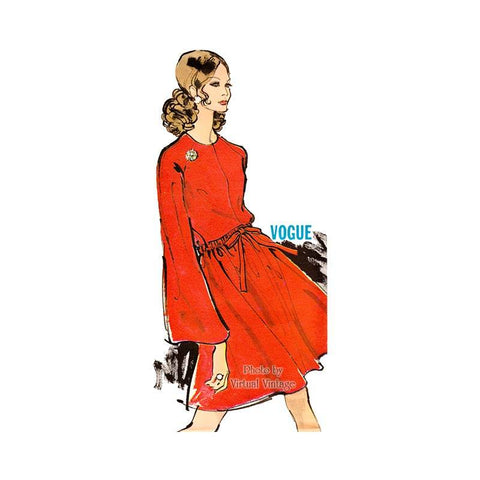 Vogue 7614 1960s Blouson Dress Pattern