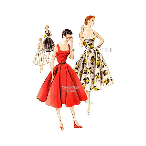 1950s Sundress Pattern, Vogue 7701
