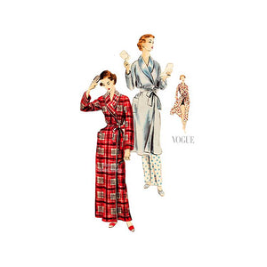 Vintage Vogue Robe Pattern 7767, Womens Shawl Collar Robe or Beach Cover Up