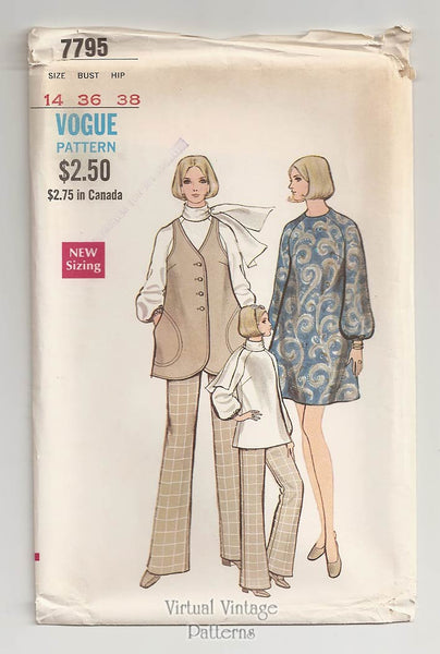 Vogue 7795, Vintage Maternity Clothing Pattern