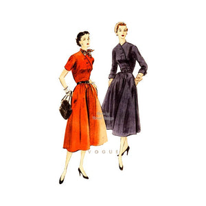 Vogue 7901, 1950s front wrap dress pattern