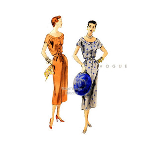 Vogue Sheath Dress Pattern 8042, 1950s Vintage Sewing Pattern
