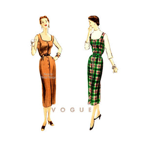 1950s Jumper Dress Pattern, Vogue 8053