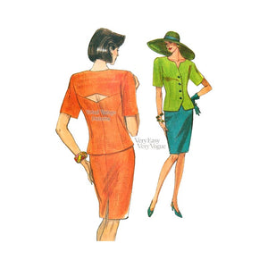 Womens Top & Skirt Pattern, Very Easy Very Vogue 8054