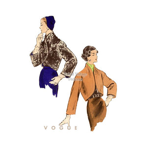 1950s Bolero Jacket Pattern, Vogue 8056