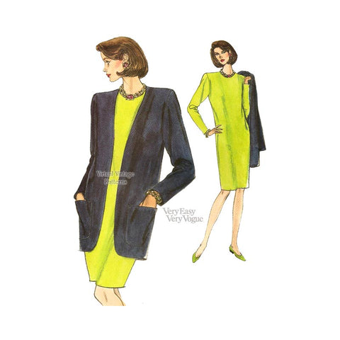 Jacket & Shift Dress Sewing Pattern, Very Easy Very Vogue 8159