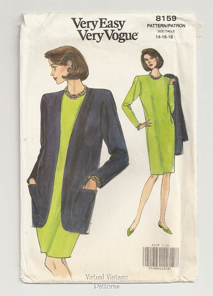 Very Easy Very Vogue 8159, Jacket & Shift Dress Sewing Pattern