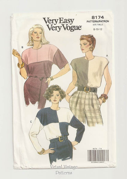 Vogue 8174, Color Block Blouse Pattern
