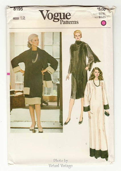 Vogue 8195, Caftan Dress Pattern