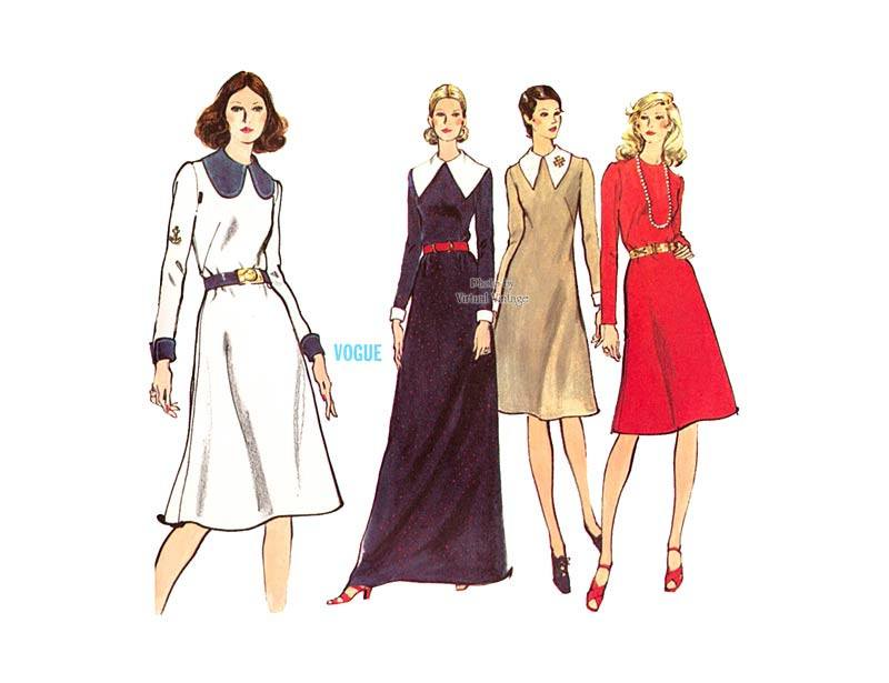 A Line Evening Dress Pattern, Very Easy Vogue 8216