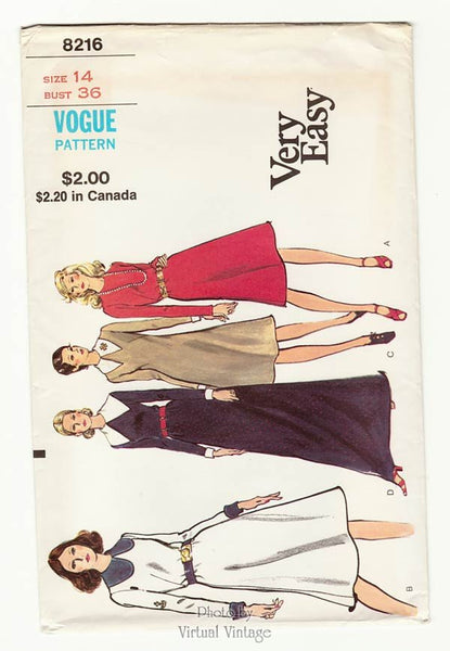 Very Easy Vogue 8216, A Line Evening Dress Pattern