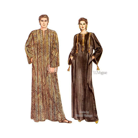 Unisex Caftan Pattern Vogue 8474 Men's Women's Easy Sewing Kaftan Pattern Loungewear All Sizes Uncut