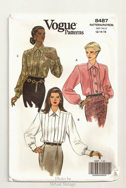 Vogue 8487 Easy Blouse Pattern