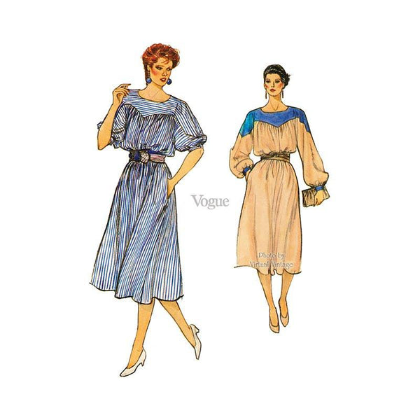 Vogue 8596, Blouson Dress Pattern