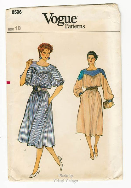 Blouson Dress Pattern, Vogue 8596