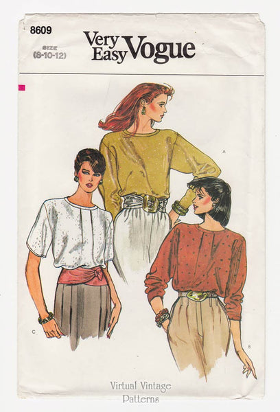 Very Easy Vogue 8609, Womens Blouse Patterns