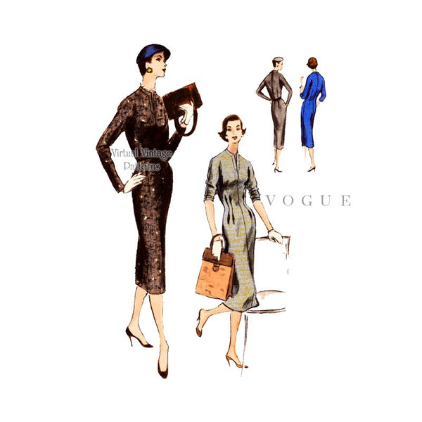 1950s Vogue Sheath Dress Pattern 8720
