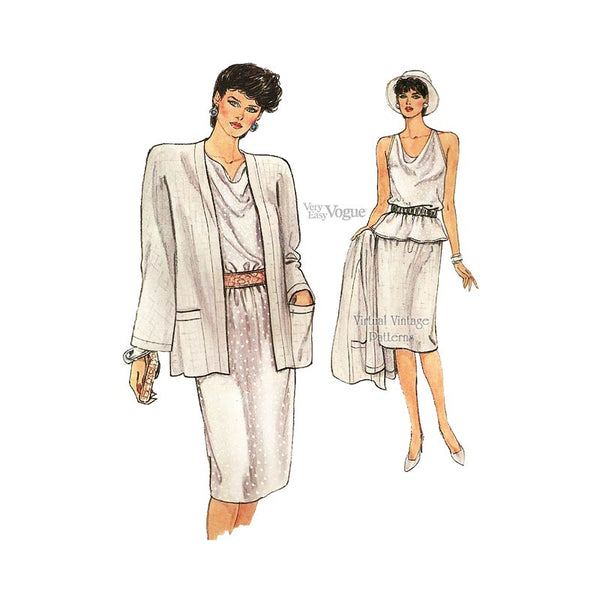 Jacket, Top & Skirt Sewing Patterns, Very Easy Vogue 8948