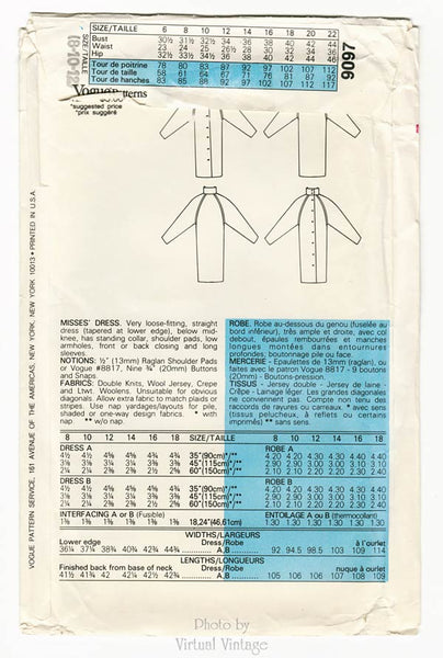 Very Easy Vogue Pattern 9097
