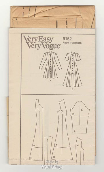 Fit and Flare Dress Pattern Very Easy Vogue 9162 Princess Seam Dress Size 14, 16, 18, Uncut