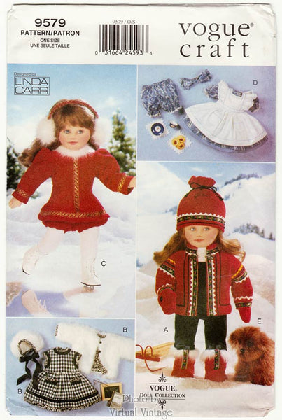 "Vogue Craft 9579, 18"" Doll Clothes Pattern"