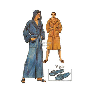 Mens Hooded Robe Pattern, Vogue 9616