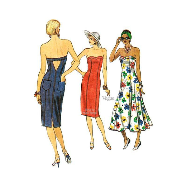 Vogue 9619 strapless dress pattern