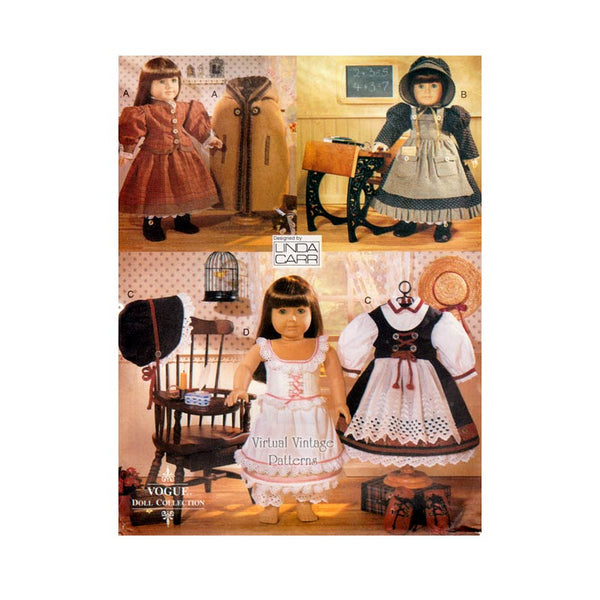18 Inch Doll Clothes Pattern Vogue Doll Collection 9641