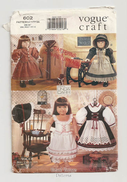 "Vogue Doll Collection 602, 18"" Doll Clothes Pattern"