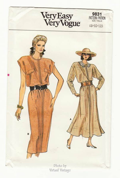 Vogue 9831 Blouson Dress Pattern