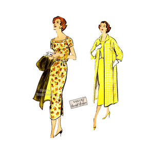 1950s Sheath Dress Pattern, Vogue Special Design S-4773