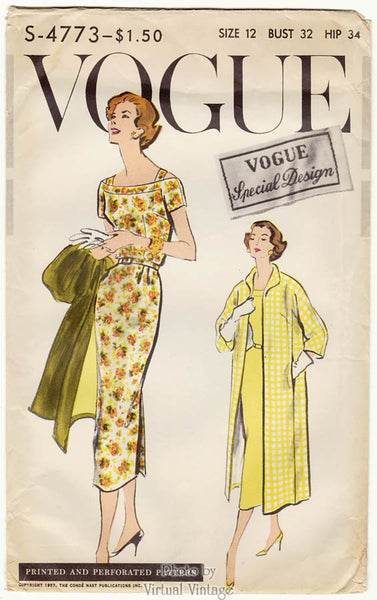 Vogue Special Design S-4773, 1950s Sheath Dress Pattern