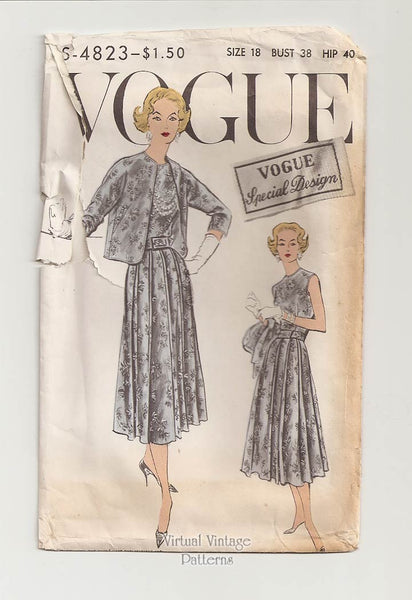 Vogue Special Design S-4823, Mother of the Bride Dress Pattern