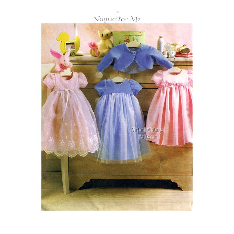 Baby Girl Dress Pattern, Vogue V7818